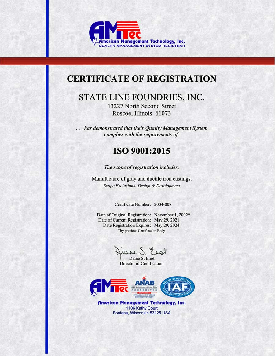 ISO 9001 2015 Expires May 29 2024